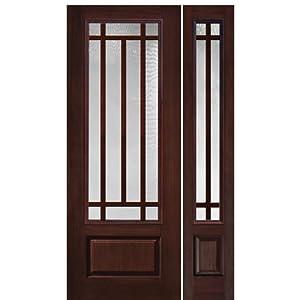 Fiberglass Door 1 Panel 10 Lite Craftsman Sdl 1 1 Glasscraft