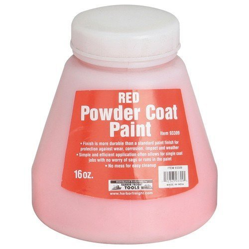 16 Oz. Powder Coat Paint - Red from TNM by HF (Decking Paint compare prices)