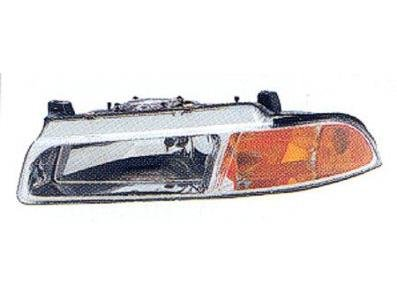 DRIVER SIDE HEADLIGHT Chrysler Cirrus, Dodge Stratus, Plymouth Breeze HEAD LAMP ASSEMBLY; LH; WITH IMPROVED PATTERN [NO LINES INHEAD LAMP-SMOOTH SURFACE] (Plymouth Breeze Headlight compare prices)