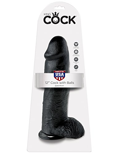 King Cock 30.48 cm Black Dildo with Balls