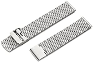 Hadley-Roma Men's MB3836RWSE 20 20-mm Stainless Steel Heavy Mesh Watch Strap