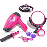 Akhand Pink Beauty Set For Girls With Hair Dryer And Accessories