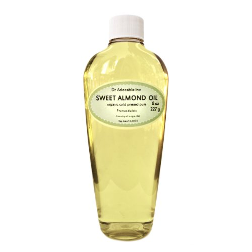Sweet Almond Oil Pure Organic 8 Oz front-820657