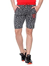 Glasgow Men's Cotton Shorts (NICK407_Black_Medium)