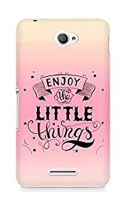 AMEZ enjoy the little things 2 Back Cover For Sony Xperia E4