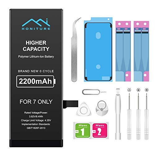 Battery for iPhone 6 2200mAh High Capacity Replacement iPhone 6 Battery for iPhone 6 Only Professional Complete Tool with Two Adhesive Strips and User Manual 0 Cycle Upgrade