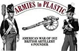 American War 1812 American Artillery Crew (5) w/6-Pdr Cannon (Red Figs) 1/32 Armies in Plastic