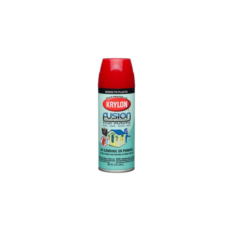 Krylon K02328000 Fusion For Plastic Aerosol Spray Paint, 12 Ounce, Red