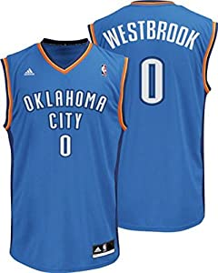 Russell Westbrook Oklahoma City Thunder #0 NBA Kids 4-7 Road Jersey Blue