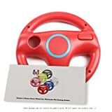 GH Wii U Wii Steering Wheel Mario Red for Racing Games, Mario Kart Racing Wheels