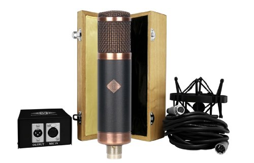 Telefunken Cu-29 | Copperhead Cardioid Tube Condensor Microphone With Modern Power Supply, Shock Mount, Wooden Box, 7-Pin Microphone Cable