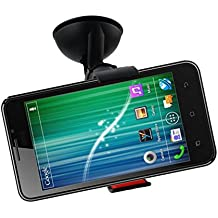 Emartbuy Universal Claw Clip 360 Degree Dashboard / Windscreen Car Mount Suction Holder Black Suitable For Byond B66