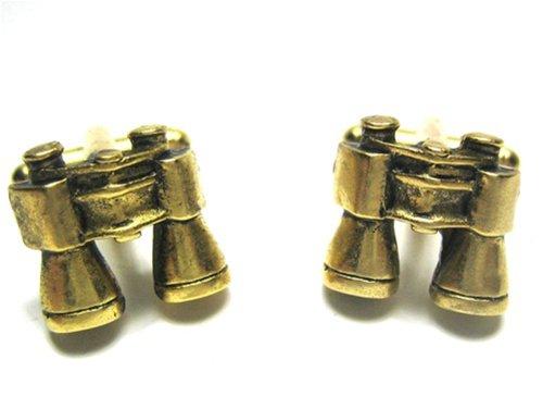 Gold Tone Binocular Cufflinks