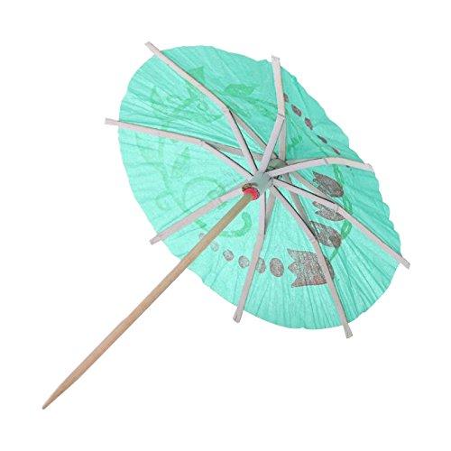 TOOGOO(R)72 pieces colorees Parapluies Parasols de Cocktail en papier mixte pour Boissons de soiree decoration de cocktail