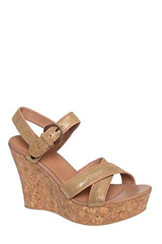 Jazmine Metallic Platform Wedge Sandal
