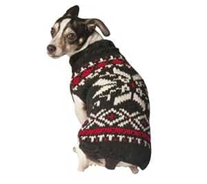 Chilly Dog Snowflake Dog Sweater, XX-Large, Black