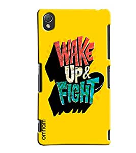 Omnam Wake Up Right Printed Designer Back Cover Case For Sony Xperia Z3