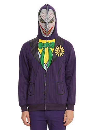 Joker Face Adult Costume Hoodie Dc Comics Batman