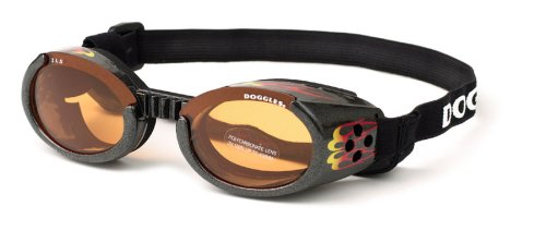Dog Sunglasses With Racing Flame - Medium