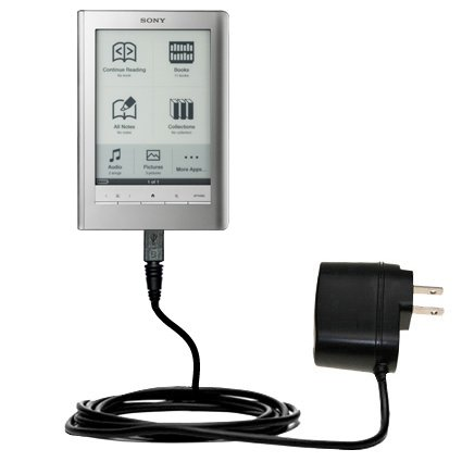Rapid Wall Home AC Charger for the Sony PRS-600 Reader Touch Edition - uses Gomadic TipExchange Technology from Gomadic