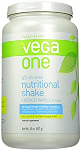 Vega One All-in-One Nutritional Shake, French Vanilla, Large Tub, 29.2 Oz