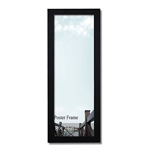 Adeco Decorative Black Wood 1.25-Inch Wide Wall Hanging Poster, 8 x 24-Inch (8x24 Picture Frame compare prices)