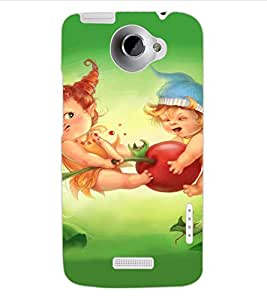 ColourCraft Cute Cartoons Design Back Case Cover for HTC ONE X