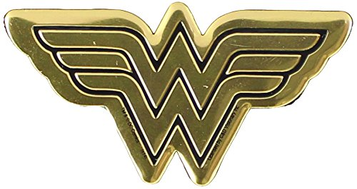 DC Comics Originals Wonder Woman Logo Metal Sticker, Gold, 6cm