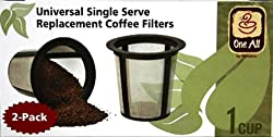 Medelco RK202 One All Universal Single-Cup Replacement Coffee Filter, Set of 2 from Medelco