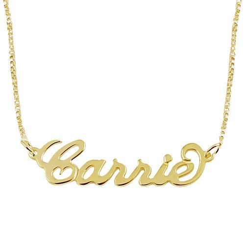 18k Gold Plate Personalized Name Necklace - Custom Made Any Name