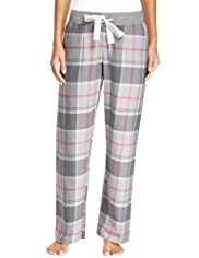 Limited Collection Pure Cotton Twill Checked Pyjama Bottoms