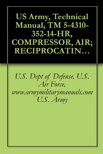 Us Army, Technical Manual, Tm 5-4310-352-14-Hr, Compressor, Air; Reciprocating, Electric Motor Driven Receiver Mounted, 2 Hp, 5 Cfm, 175 Psi, (Ingersoll-Rand ... Military Manauals, Special Forces