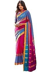 Lemoda Cotton Printed Handwooven Saree For Women MMUKE72480650740-70000033