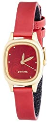 Sonata Superfibre Analog Red Dial Womens Watch - NF8060YL03