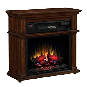 5 Fireplace Twin Star Chimney Free Bennington 32 In Infrared Quartz Rolling Electric