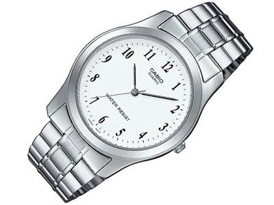Casio MTP-1128A-7BEF - Reloj analógico de cuarzo para hombre con correa de acero inoxidable, color plateado