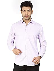 Basilio's Pink Colored Semi Formal Shirt For Men-L