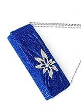 Ever Pretty Hand Shoulder Satin Rhinestones Flower-Like Party Clutch Evening Bag 02966, FS02966BL00