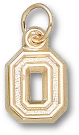 Ohio State Buckeyes No Leaf O 3 8 Charm - 14KT Gold Jewelry by Logo Art