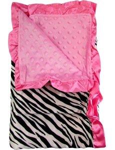 Pink Zebra Baby Blanket front-179690