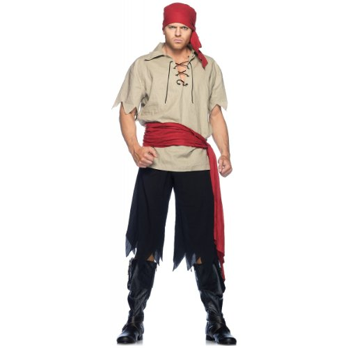 Cutthroat Pirate Costume - Medium/Large - Chest Size 43