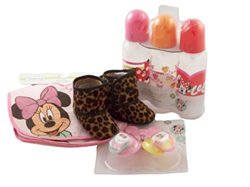Baby Girls 4 piece Minnie Mouse Gift Set, ap10111-combo - 1