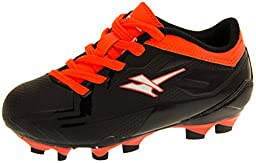 Gola Activo 5 Boys Girls Black & Orange Boys Girls Astroturf Blade Soccer Sneakers US 1
