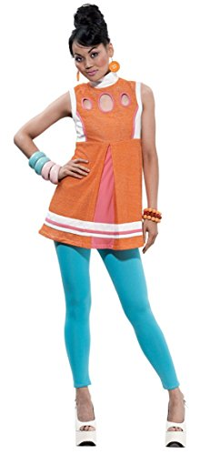 Papermagic Womens Retro Decorative The Jan Theme Party Fancy Halloween Costume