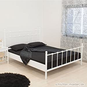 metallbett quot ada quot 140x200 cm wei k che amp haushalt. Black Bedroom Furniture Sets. Home Design Ideas