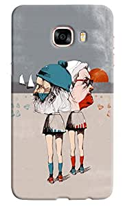 Omnam Old Man And Women In Skirt Funny Printed Designer Back Cover Case For Samsung Galaxy C7