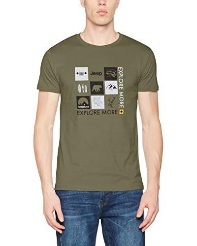 "Jeep T-Shirt ""Outdoor Icons J7S eisblau"
