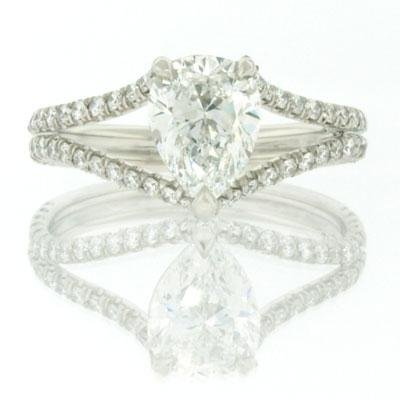 1.98ct Pear Shape Diamond Engagement Anniversary