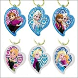 Disney's Frozen Stained Glass Portrait Style Keychain Swing Charm ~2 - Anna & Elsa