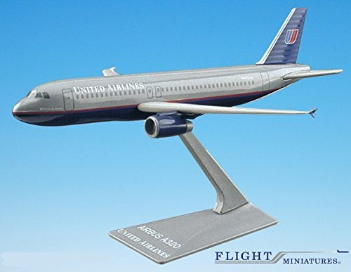 United (93-04) Airbus A320-200 Airplane Miniature Model Plastic Snap Fit 1:200 Part# AAB-32020H-009 (United Airlines Model compare prices)